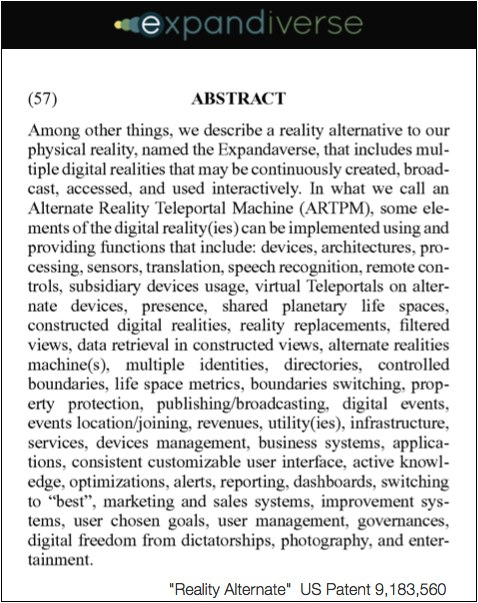 Abstract--Reality Alternate Patent